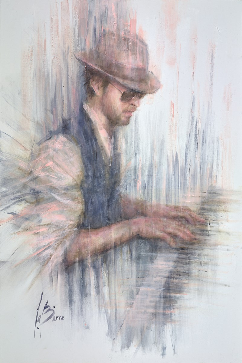 Billy Joel's Piano Man by remi labarre -  sized 24x36 inches. Available from Whitewall Galleries